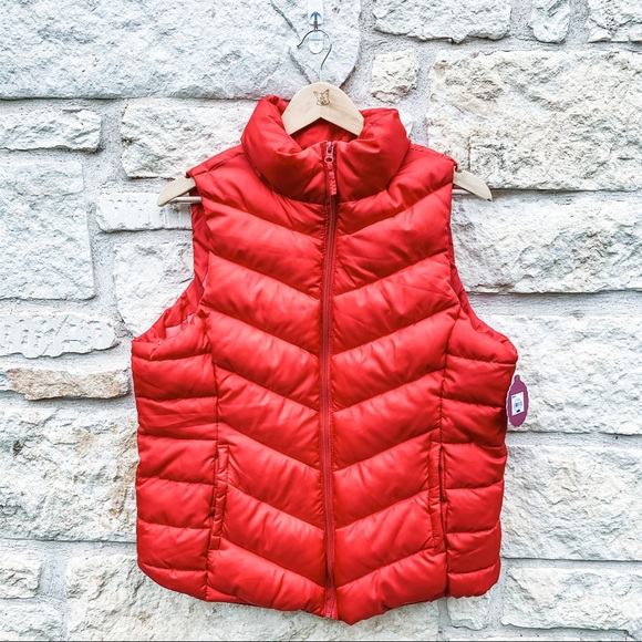 SO Jackets & Blazers - ⭐️ SO Red Light Wright Puffer Vest Size XL